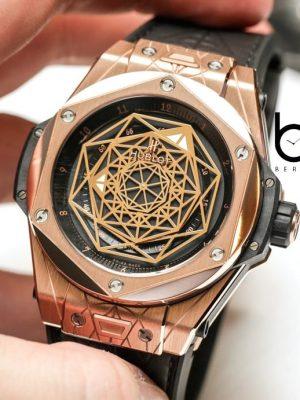 64ffe33df ساعت مچی مردانه هابلوت مدل BIG BANG SANG BLEU KING GOLD - برنارد واچ